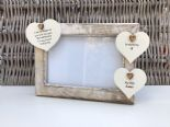 Shabby personalised Chic Photo Frame In Memory Of Wife ~ Loved One ~ Any Names - 232993362769